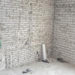 Badkamer in Woerden; tijdens de verbouwing